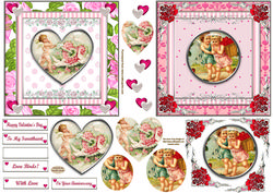 Love Birds 5x5ins Toppers