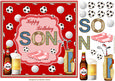 Happy Birthday Son Decoupage Topper 1