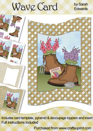 Flowers in Boots Wave Card Kit