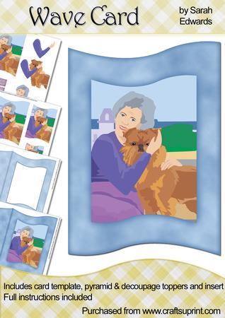 Lady Hugging Dog Wave Card