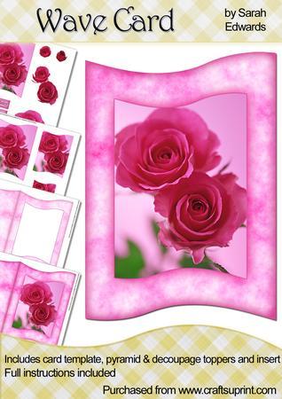 Pink Roses Wave Card Kit
