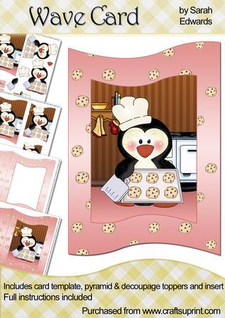 Penguin Chef Wave Card Kit