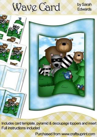 Forest Animals Wave Card Kit