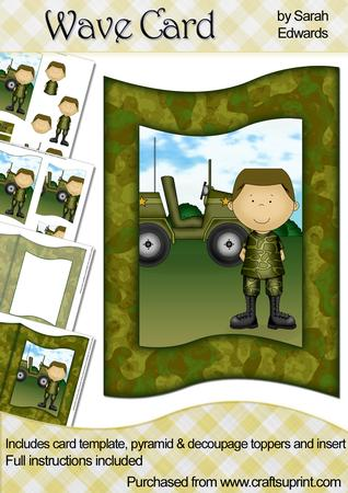 Army Man Wave Card Kit