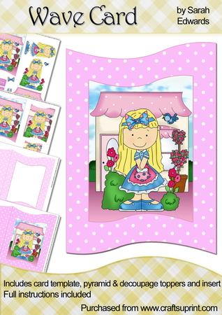 Young Girl Wave Card Kit