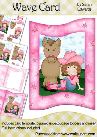 Pink Cowgirl Wave Card Kit