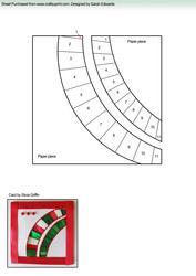 Abstract Circle Cutouts Iris Folding Pattern