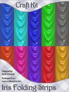 Drapes Iris Folding Strips