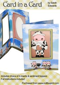 "Bbq Cows ""card in a Card"""