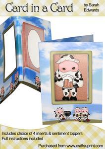 """Bbq Cows """"card in a Card"""""""