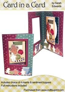 "Christmas Coffee & Cookies ""card in a Card"""
