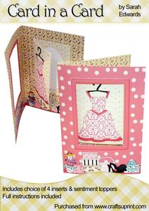 "Pink Dress ""card in a Card"""