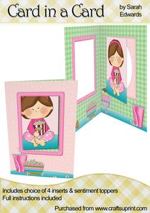 "Sleepover Girl ""card in a Card"""