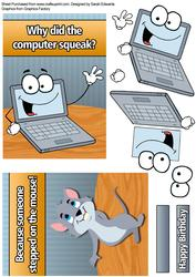 Computer Squeak Joke Card