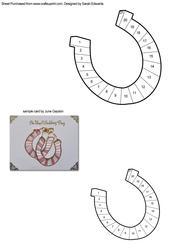 Lucky Horseshoe Iris Folding Pattern