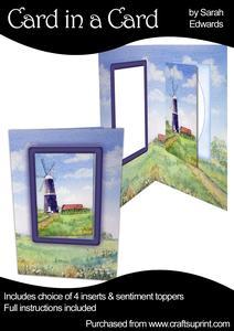 Scenic Windmill Card in a Card