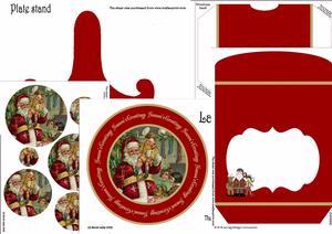 Santa Extra Large Plate Kit