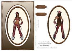 Cheeky Cow Girl Spinner Card Sheet