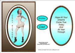 Cheeky Lady Spinner Card Sheet