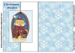 Christmas Wishes Snowman Fold Back