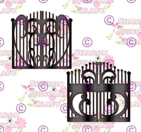 Set of 2 Iron Gates