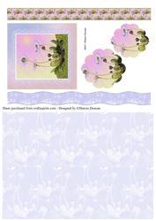 Dainty Daisy Decoupage & Paper - Lilac