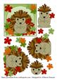 Autumn Hedgehog Decoupage