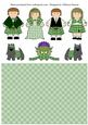 Highland Fling Scottish Characters - Green Tartan
