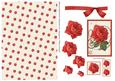 Musical Rose Decoupage and Paper - Red