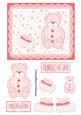 Baby Bear Lace Topper - Pink