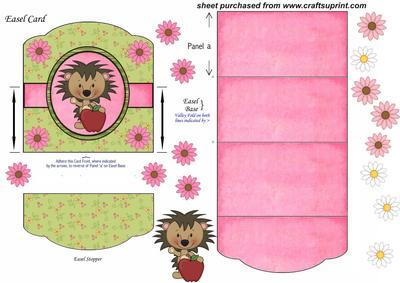 Hedgehog Easel Card 3