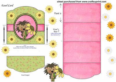 Hedgehog Easel Card 4