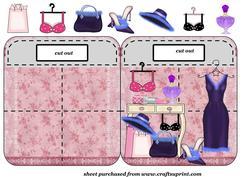 Ladies Accessories Bag Shaped Card