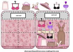 Ladies Accessorise Bag Shaped Card