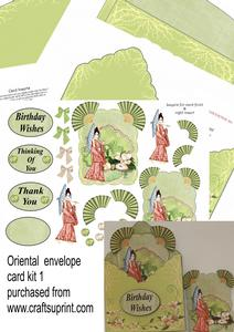 Oriental Envelope Card Kit 1