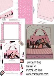 Pink Girly Bag Drawer Easel Kit