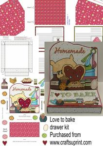 Love to Bake Drawer Easel Card Kit
