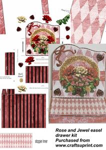 Roses and Jewels Easel Drawer Kit