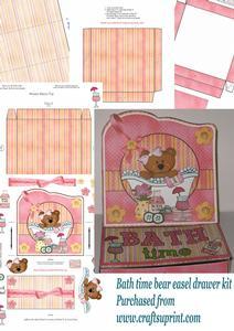 Bath Time Bear Drawer Easel Kit