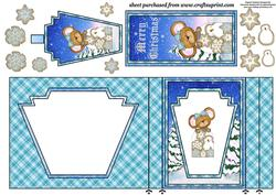 Christmas Cookie Mouse Aperture Card