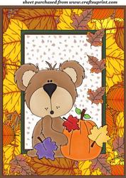 Autumn/thanksgiving Bear Topper 1