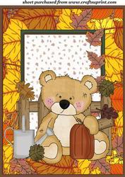 Sweet Autumn/thanksgiving Bear Topper 1