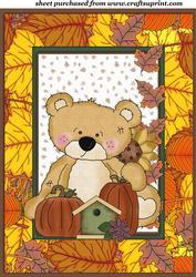 Sweet Autumn/thanksgiving Bear Topper 2