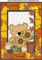 Sweet Autumn/thanksgiving Bear Topper 4