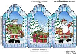 Santa Delivering Pressies Tri Fold Card