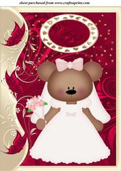 Bride Bear Wedding Topper 4