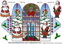 Mr and Mrs Clause Trifold Card
