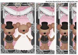 Framed Wedding Bears Side Stacker Card Front 3