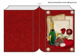 Valentines Book Shaped Card