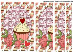 Sweet Valentine Cupcake Side Stacker Card Front 4